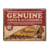Genuine Parts Embossed Metal Sign
