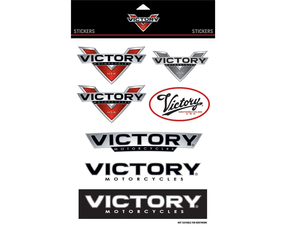 Victory Motorcycles Sticker Set Victory Motorcycles - Motorcycle stickers