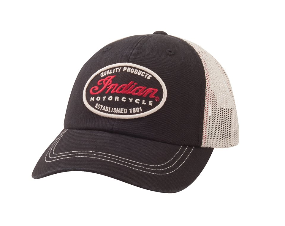 b71870165e8 Mesh Snapback Heritage Hat with Indian Motorcycle® Logo