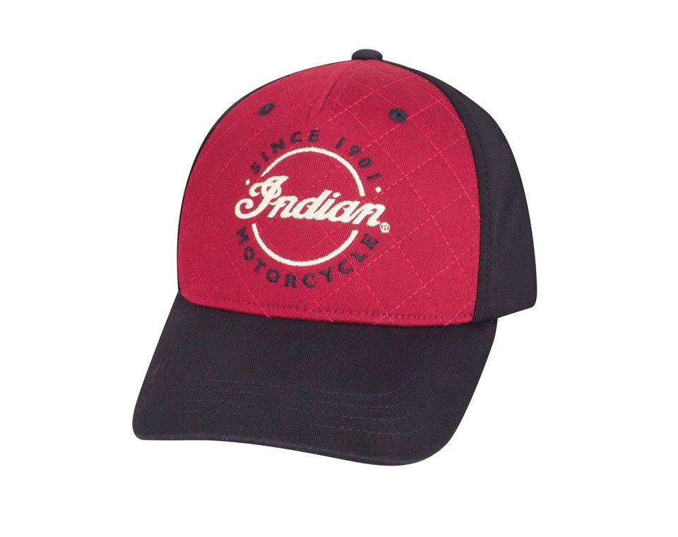 Quilt Stitch Hat - Red/Black