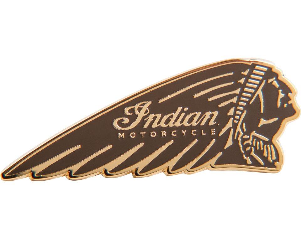 Indian Brown Headdress Pin Badge