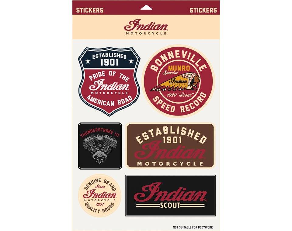 Indian Motorcycle Graphic Sticker Set Indian Motorcycle - Motorcycle stickers