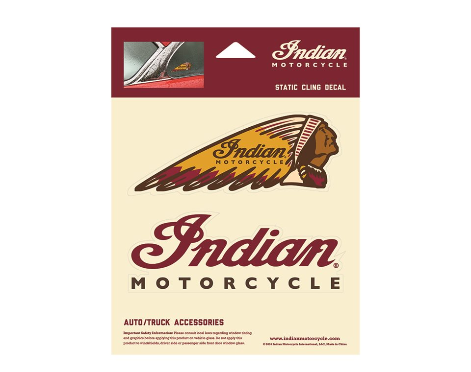 Indian Motorcycle® Static Cling Decal