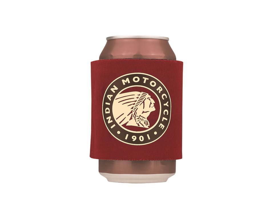 Slap Koozie with Circle Icon Logo, Red