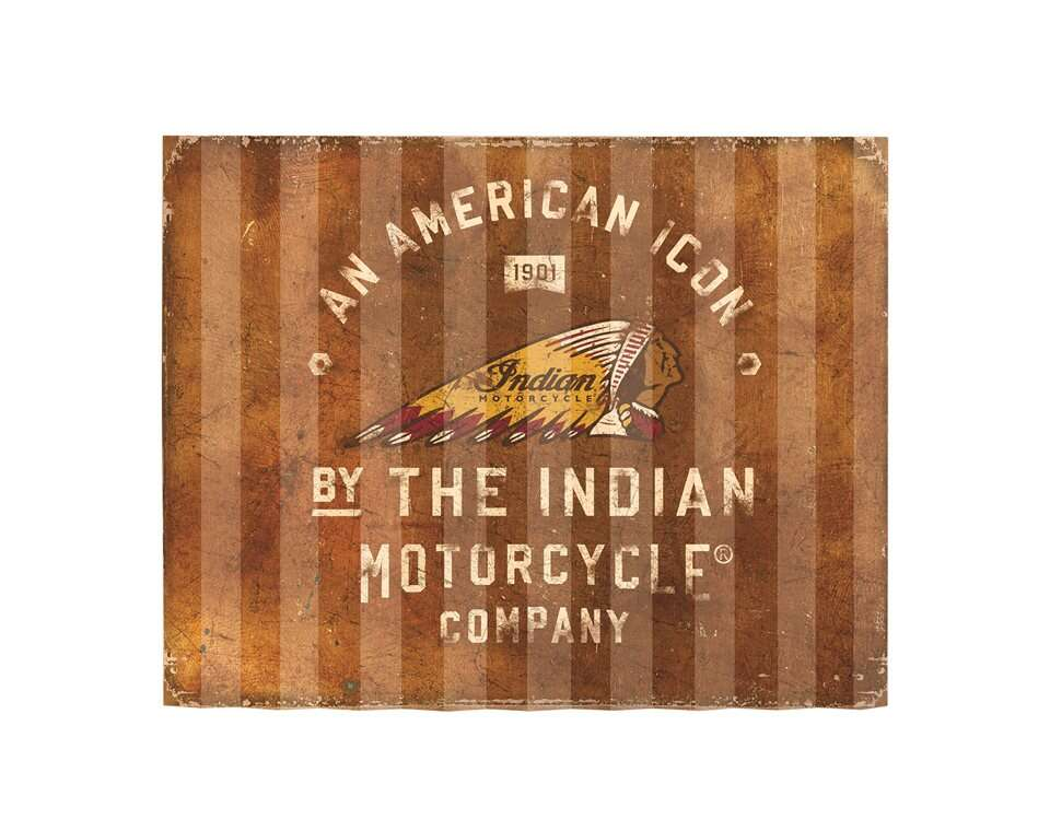 American Icon Corrugated Metal Sign