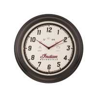 Round Wall Clock with Classic Speedometer Design, Cream