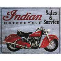 Indian Motorcycle® Sales & Service Sign- Gray