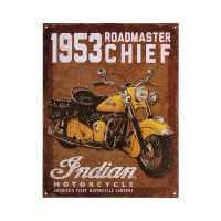 Indian Motorcycle 1953 Roadmaster Chief Sign - Brown
