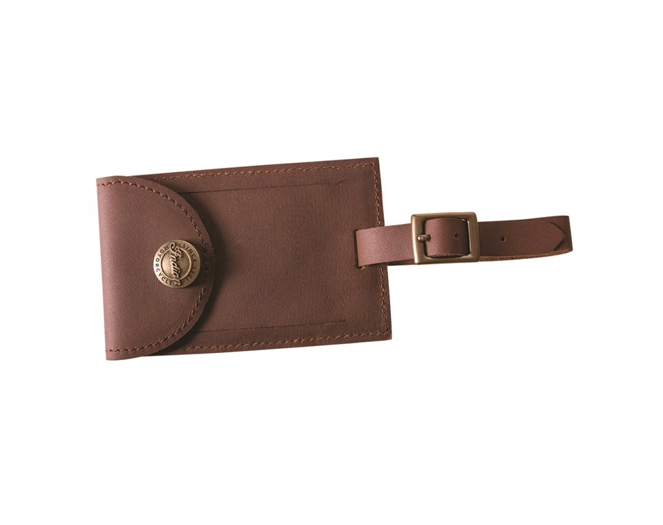 Indian Motorcycle Leather Luggage Tag - Brown | Indian Motorcycle