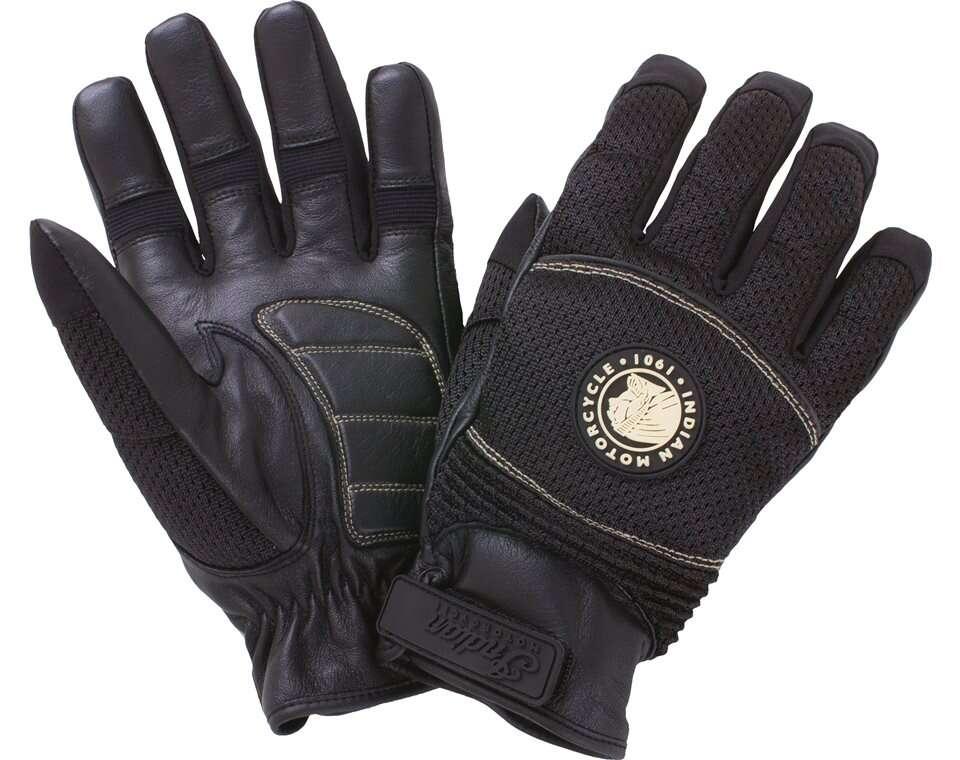 Men's Mesh Warm-Weather Riding Gloves, Black