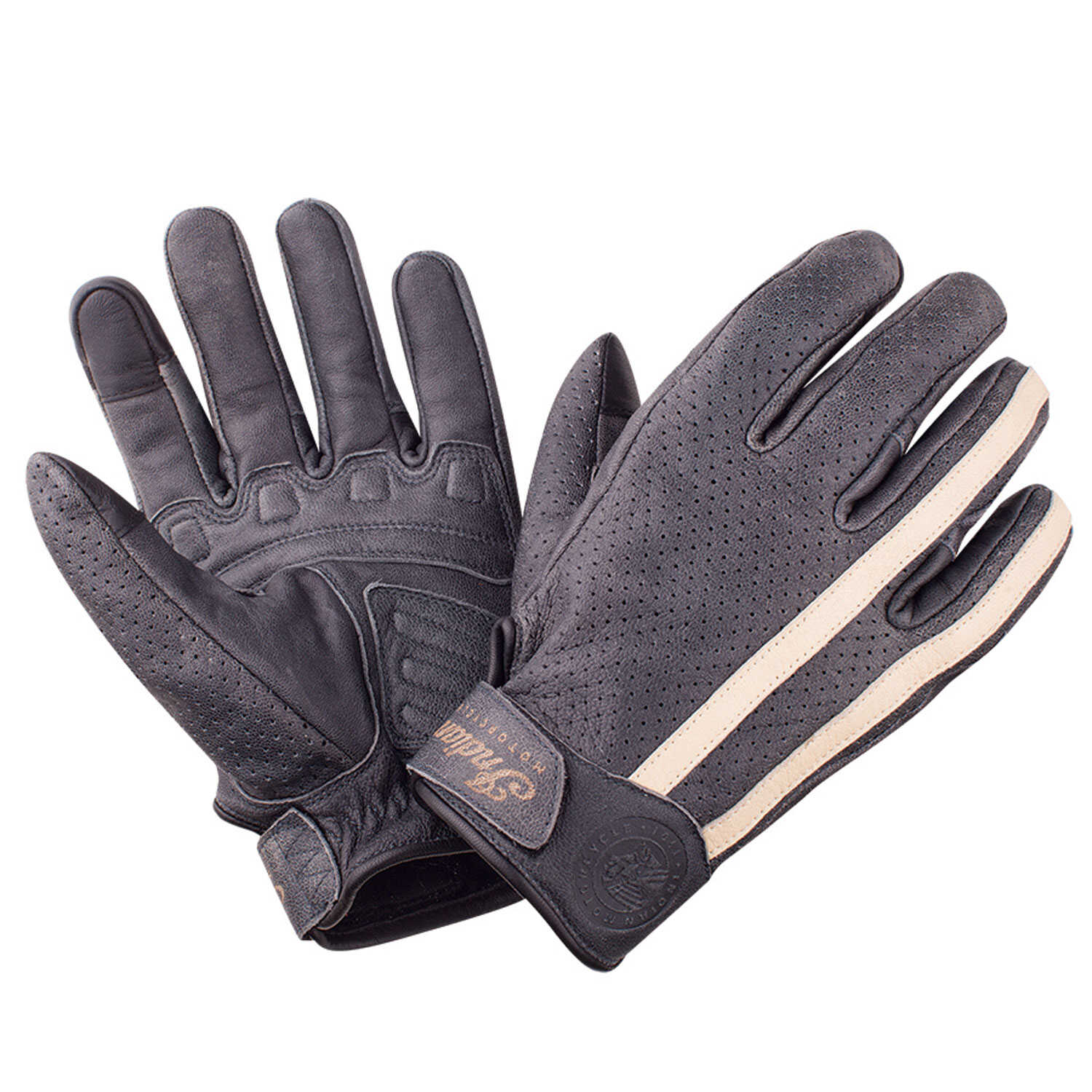 Ladies leather cycling gloves - Perforated Route Glove