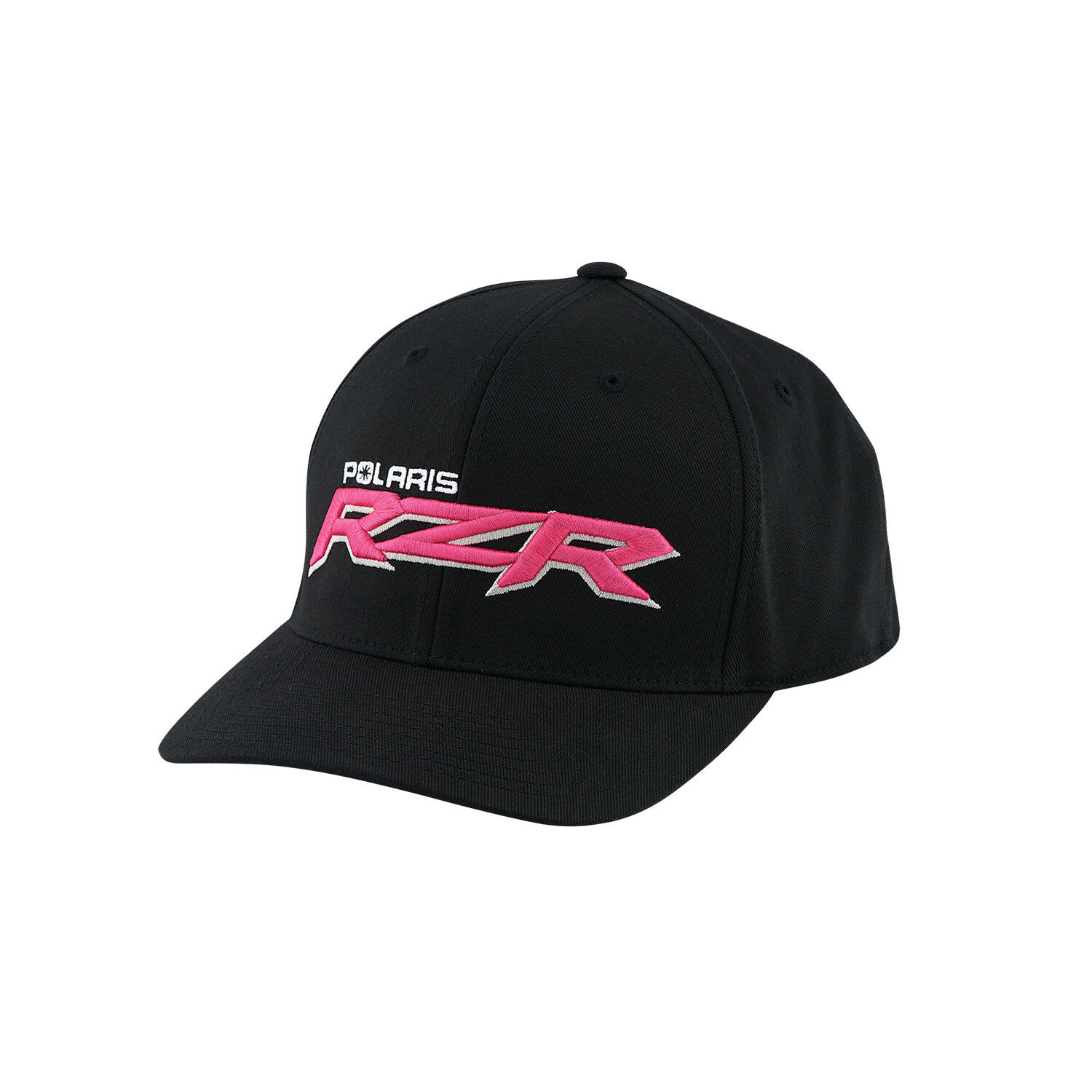 Women's Flexfit Hat with Pink RZR® Logo, Black