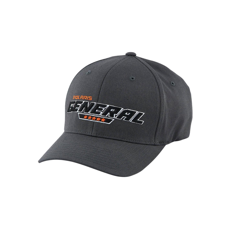 Men's (L/XL) Flexfit Hat with Black GENERAL® Logo, Gray