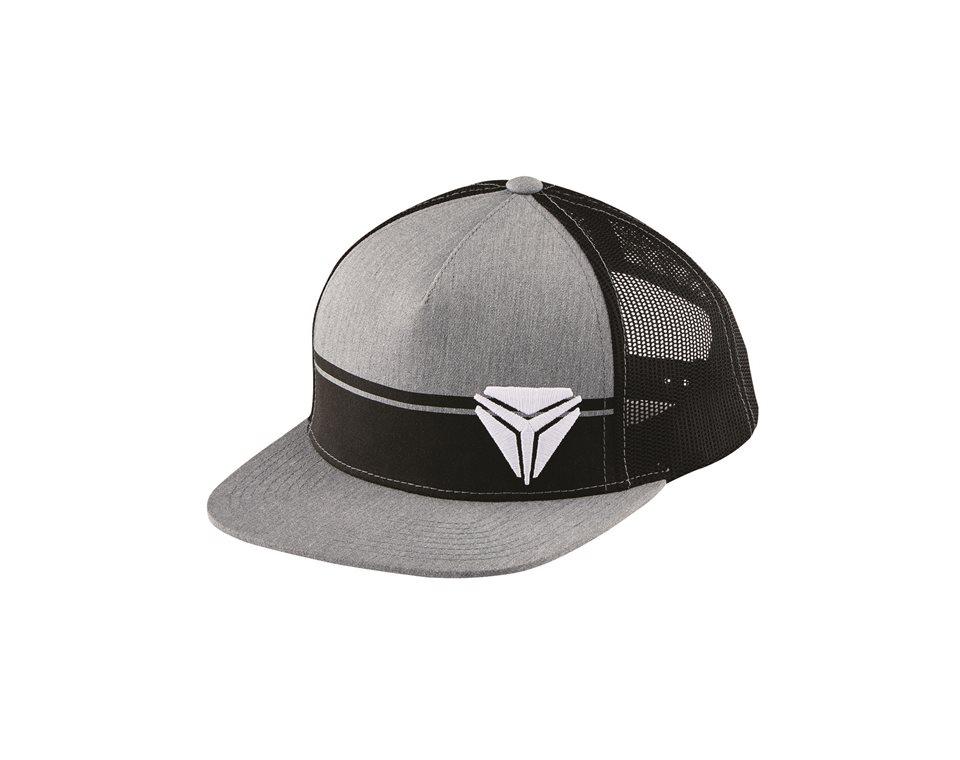 Men's Snapback Mesh Hat with Slingshot® Shield Logo, Gray/Black
