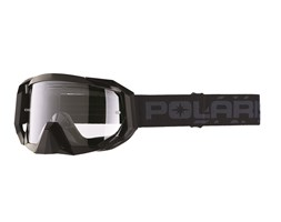 Adult Trail Goggles with Anti-Scratch Lens, Black