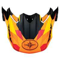 FLY F2 Replacement Visor- Orange Fractal