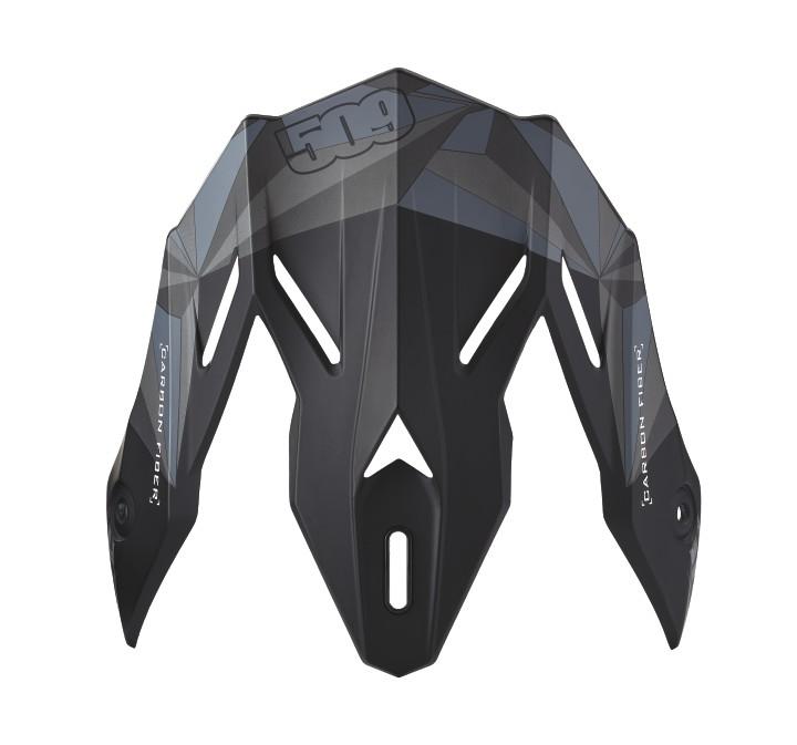 509® Altitude Adult Carbon Fiber Helmet Replacement Visor, Matte