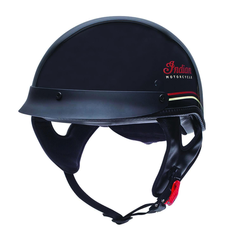 Pinstripe Half Helmet, Black
