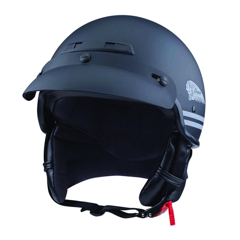 Highway Half Helmet with Sun Peak, Black