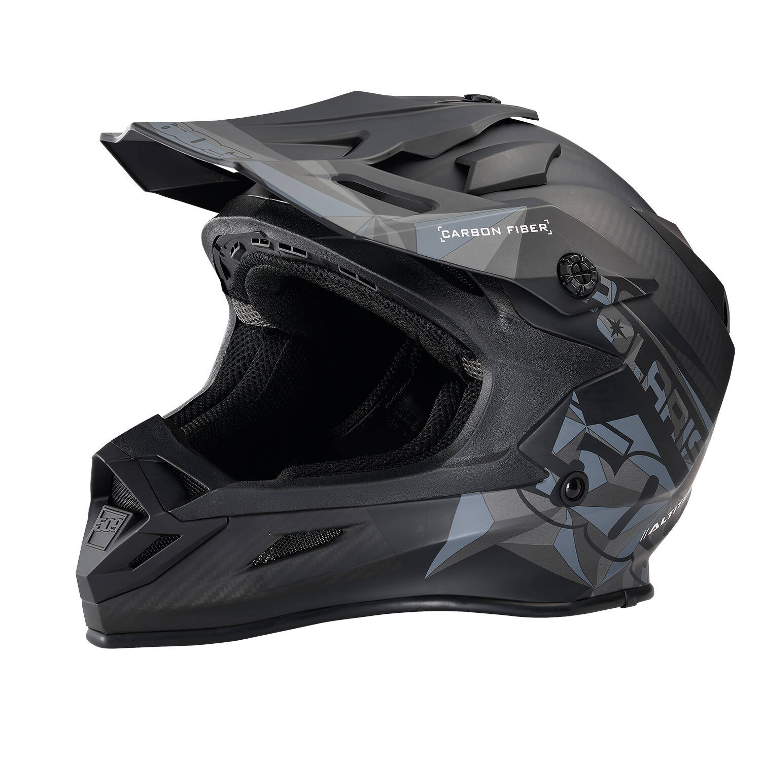 509® Altitude Adult Moto Helmet with Camera Mount, Matte Black Carbon