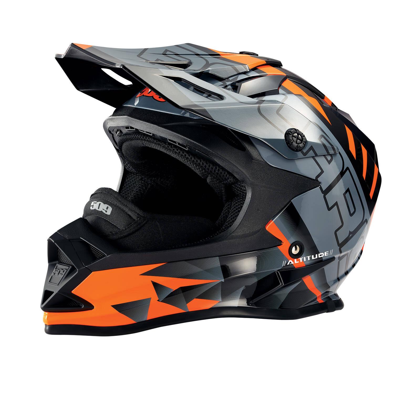 509® Altitude Adult Moto Helmet with Camera Mount, Orange