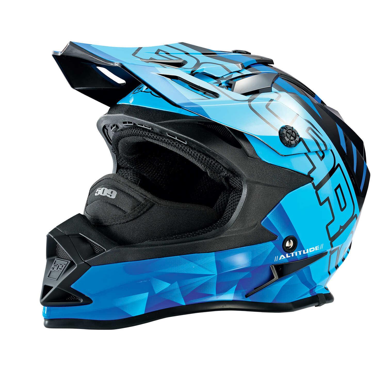 509® Altitude Adult Moto Helmet with Camera Mount, Blue