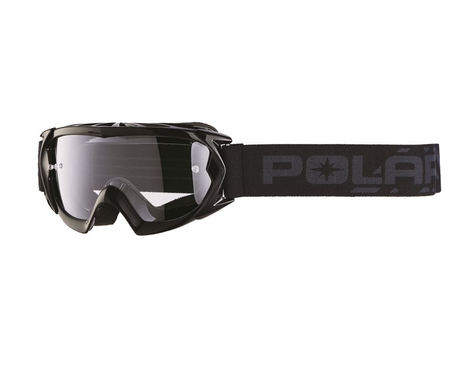 Youth Trail Goggles with Anti-Scratch Lens, Black