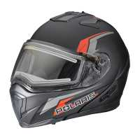 Modular 1.5 Helmet W/Electric Shield - Black/Red
