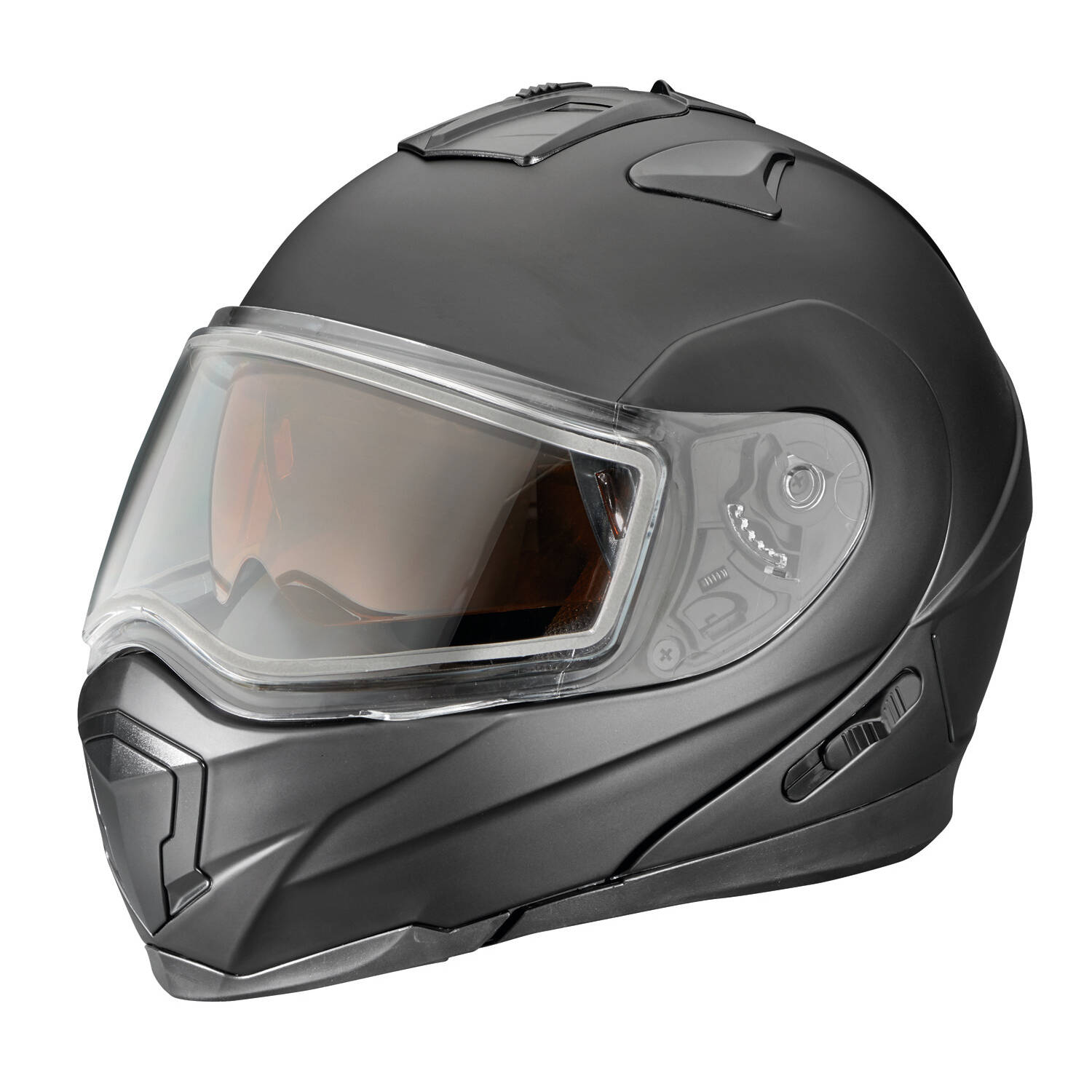 Modular 1.5 Adult Helmet with Flip Down Shield, Black Matte