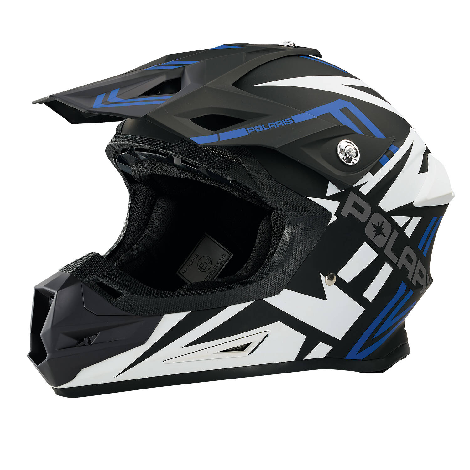 Force Adult Moto Helmet with Removable Mouthpiece, Blue