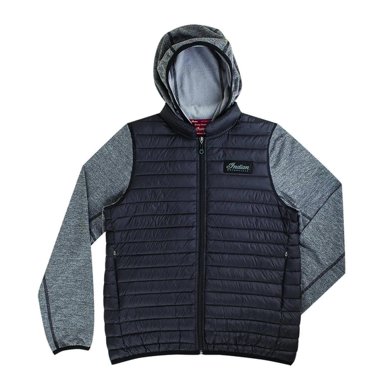 Men's Full-Zip Quilted Down Hoodie Sweatshirt, Gray