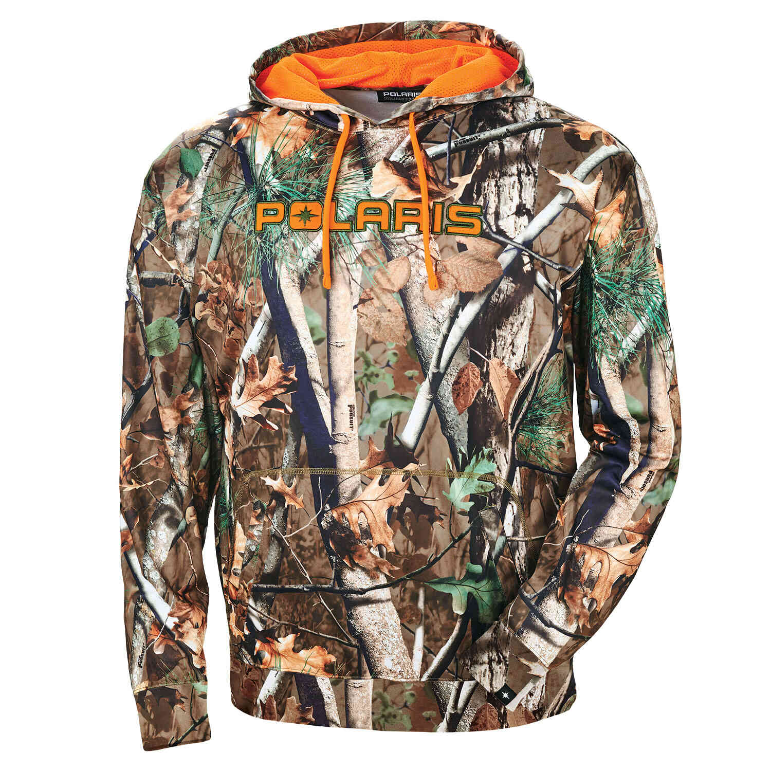 Men's Camouflage Hoodie - Polaris® Pursuit® Camo/Blaze Orange