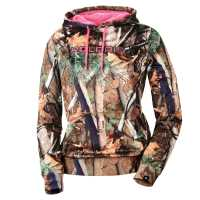 Women's Polaris® Pursuit Camo Hoodie Sweatshirt with Pink Polaris® Logo