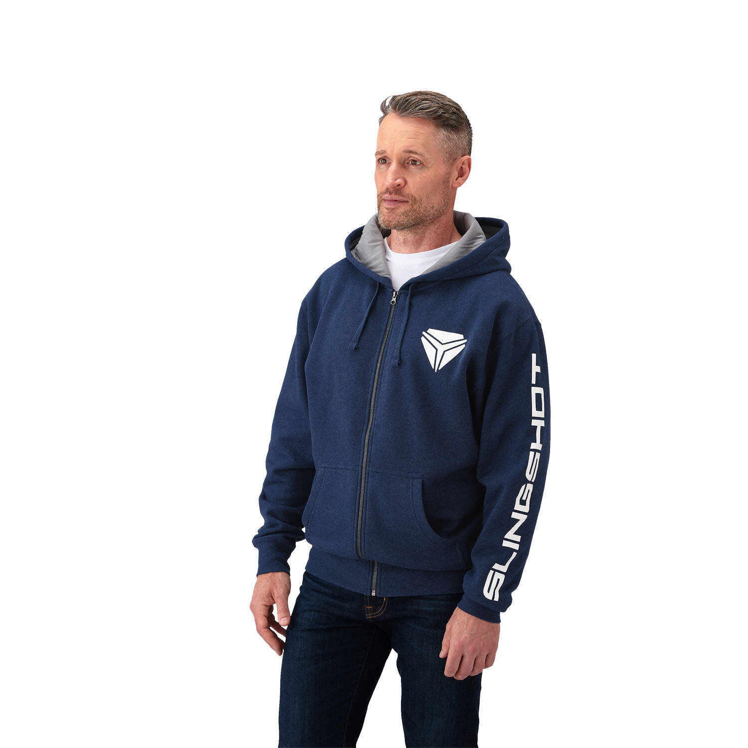 Men's Full Zip Hoodie - Navy