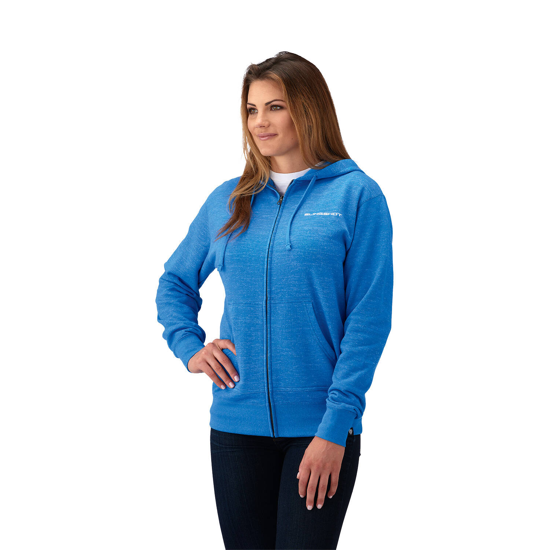 Women's Full Zip Classic Hoodie - Blue