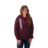Women's Full-Zip Hoodie Sweatshirt with RZR® Logo, Berry