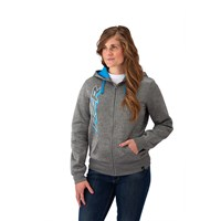 Women's Full-Zip Hoodie Sweatshirt with RZR® Logo, Gray