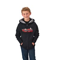Youth Boy's Full-Zip Hoodie Sweatshirt, Black/Red