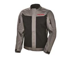 Men's Riding Jacket with Red Polaris® Logo, Black/Gray