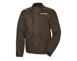 Men's Riding Jacket with White Polaris® Logo, Brown