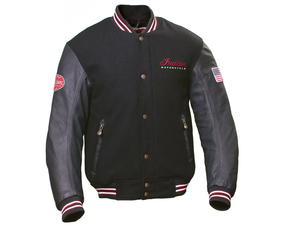 Leather indian motorcycle jacket