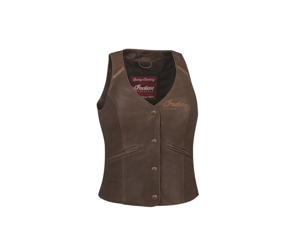 d93879e12 Women's Vintage Leather Vest, Brown