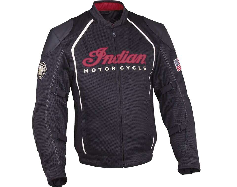 Men's Mesh Springfield Riding Jacket with Removable Lining, Black