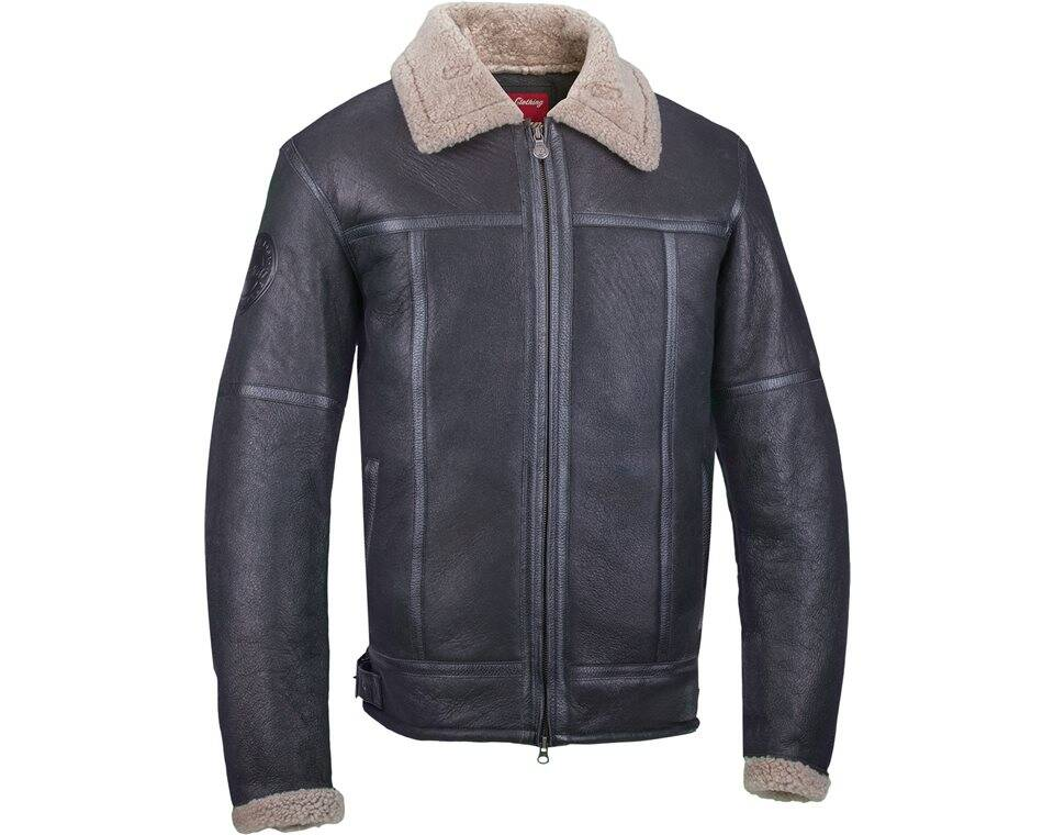 Men's Shearling Jacket- Black Leather | Indian Motorcycle