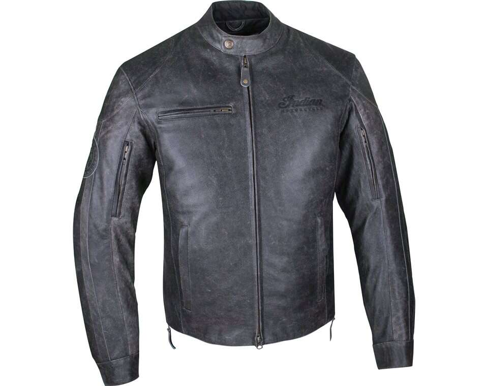 Men's Leather Hedstrom Riding Jacket with Removable Lining, Black