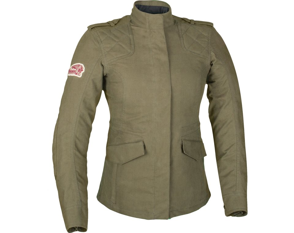 Khaki Womens Jacket - Coat Nj