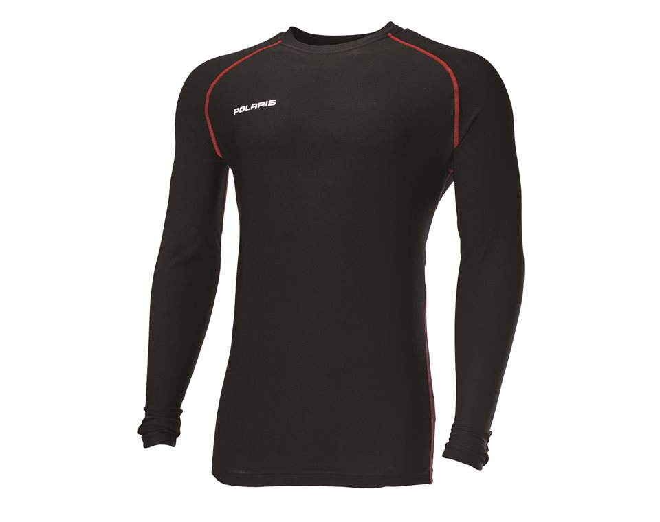 Men's Long-Sleeve Lightweight Performance Base Layer with Polaris® Logo, Black