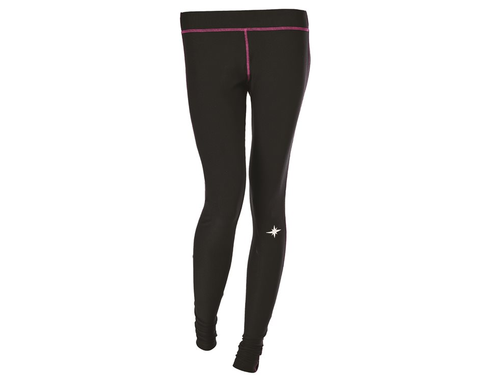 Women's Lightweight Performance Base Layer with Polaris® Logo, Black