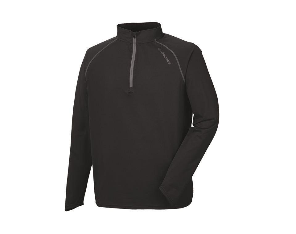 Men's Long Sleeve Tech 1/4 Zip - Black