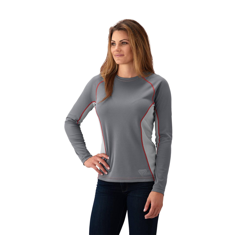 Women's Cooling Long Sleeve Shirt - Gray Red